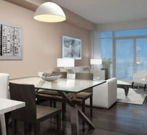 SkyCity Condos - Suite - Dining and Living Room - Interior Render