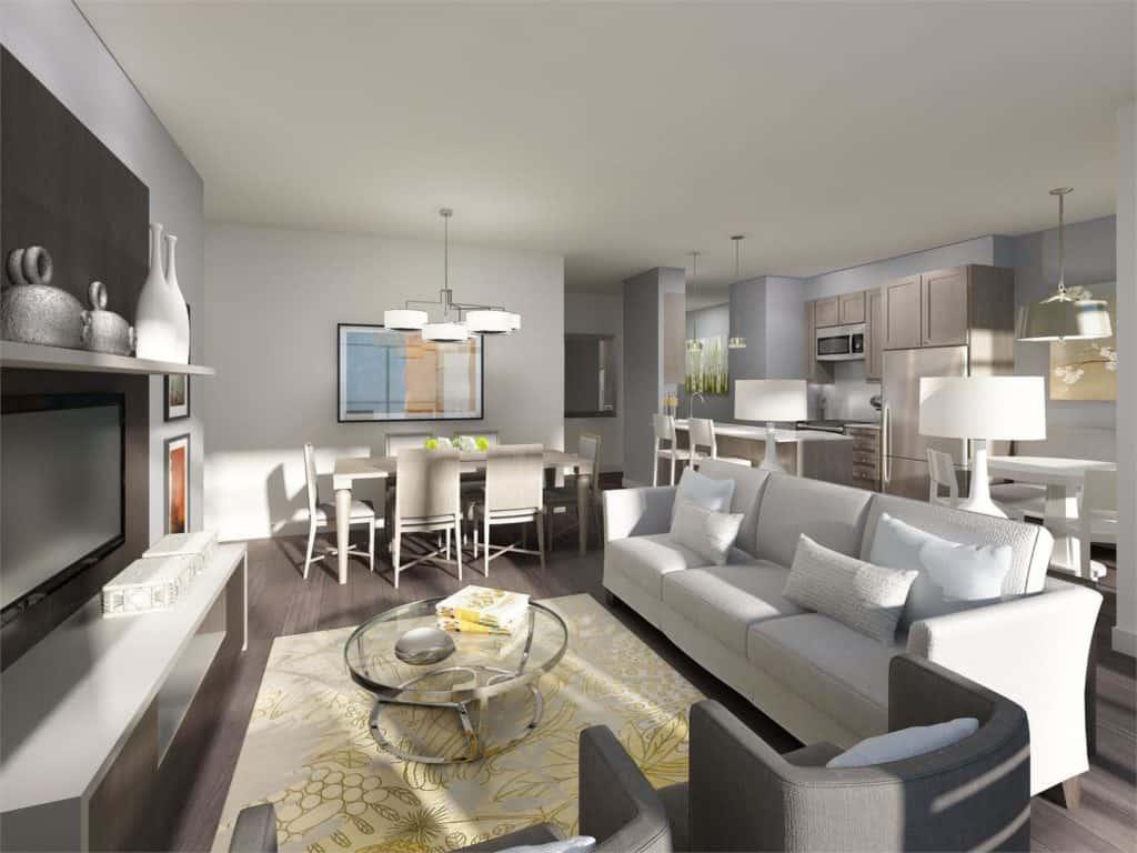 SkyCity Condos - Suite - Living Room - Interior Render