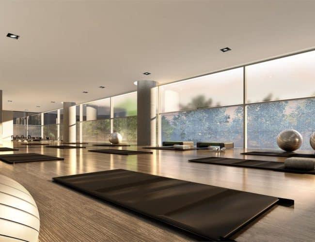 SkyCity Condos - Yoga and Pilates Studio - Interior Render