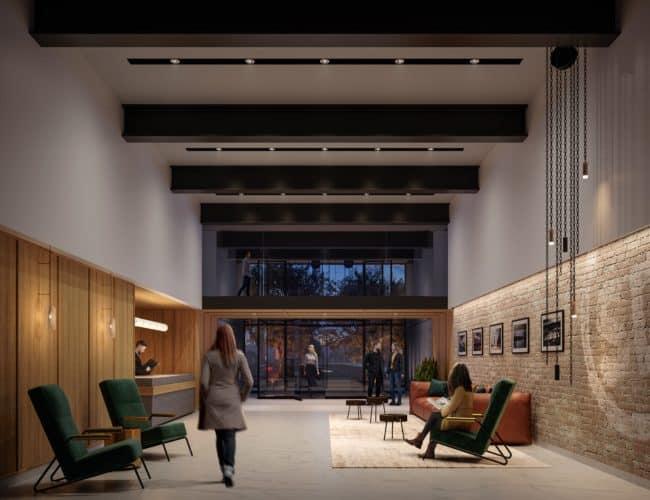 Stockyards District Residences - Lobby - Interior Render