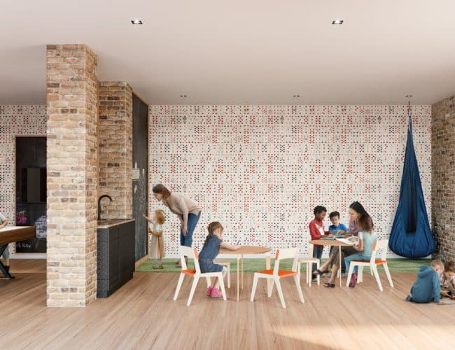 Stockyards District Residences - Play Room - Interior Render