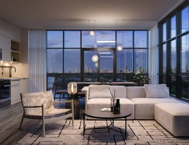 Stockyards District Residences - Suite - Interior Render