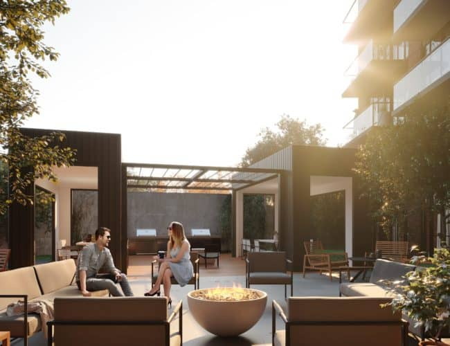 Stockyards District Residences - Terrace - Exterior Render