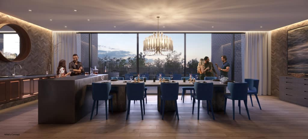The Branch Condos - Dining Room - Interior Render