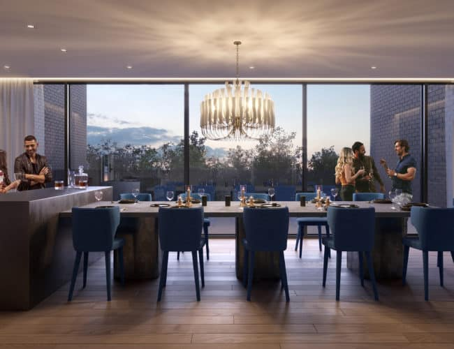 The Branch Condos - Dining Room - Interior Render