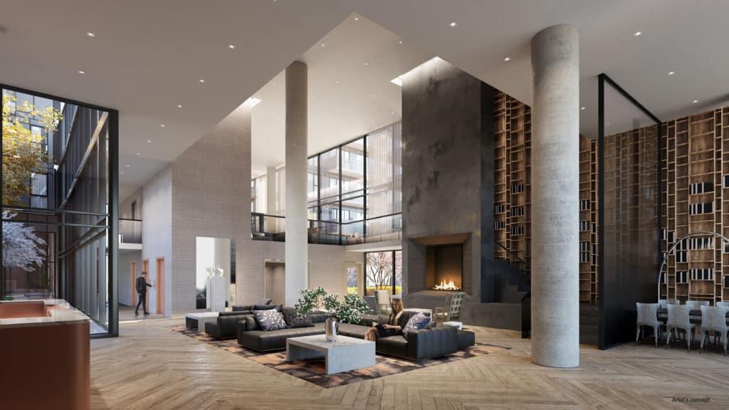 The Branch Condos - Lobby - Interior Render
