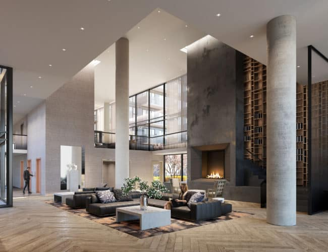 The Branch Condos - Lobby - Interior Render