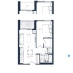 The Branch Condos - Oak 544 - Floorplan