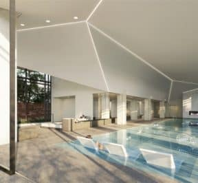 The Branch Condos - Pool - Interior Render