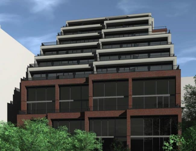 The Lookout Condominiums - Street Level View - Exterior Render