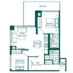 The Peak at Emerald City - Fuji - Floorplan