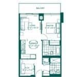 The Peak at Emerald City - Rainier - Floorplan