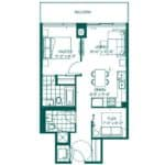 The Peak at Emerald City - Robson - Floorplan