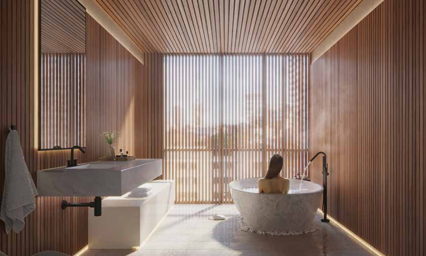 The Saint Condos - Spa Room - Interior Render