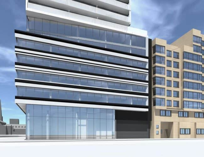 The Saint Condos - Street Level View - Exterior Render