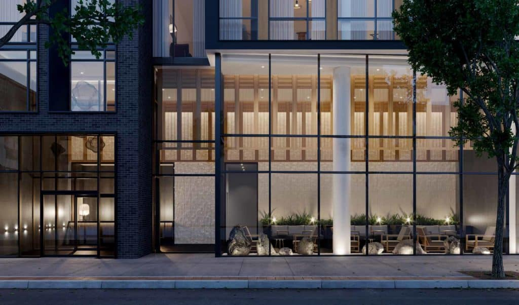The Saint Condos - Street Level View - Exterior Render 2