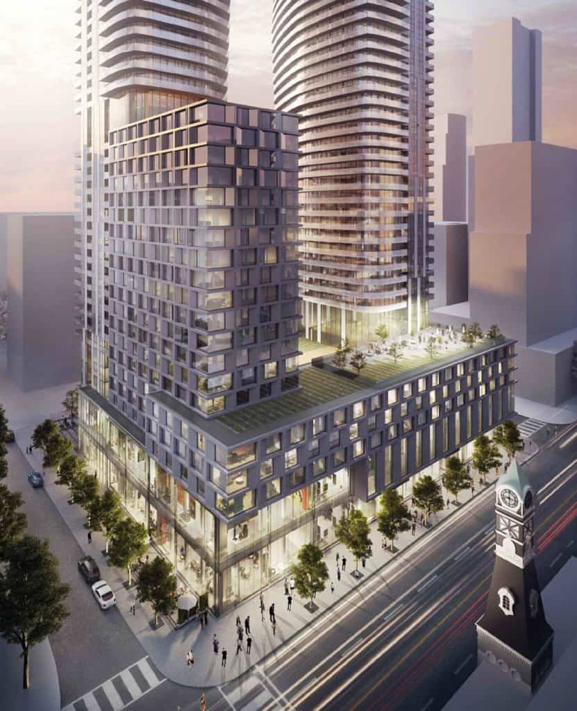 475 Yonge St Condos - Bird's Eye View - Exterior Render 3