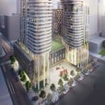 475 Yonge St Condos - Bird's Eye View - Exterior Render 4