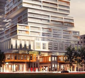 88 East Condos - Street Level View - Exterior Render