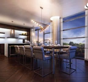 Dining Room - The Hill Condos