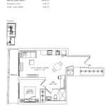 Margo Condos - 1V+D - Floorplan