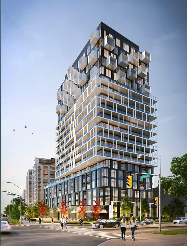Margo Condos - Street Level View - Exterior Render 3