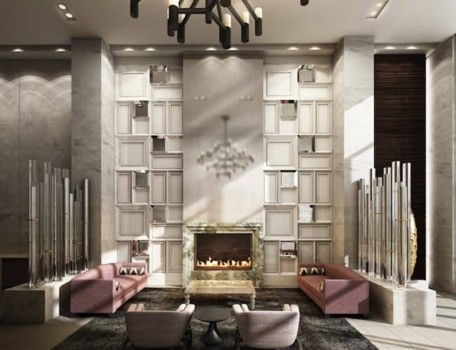 Rise Condos - Lobby Lounge - Interior Render