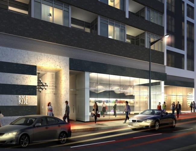 Rise Condos - Street Level View - Exterior Render 4