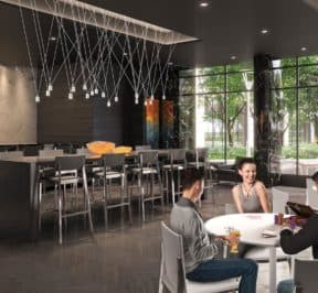Southside Condos - Lounge - Interior Render
