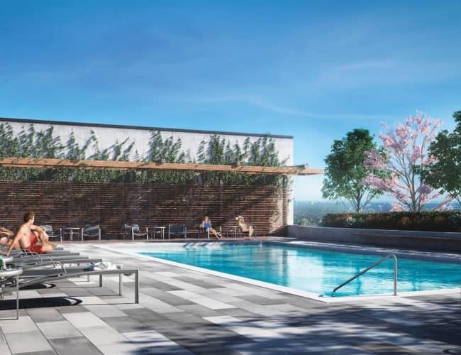 Southside Condos - Pool - Exterior Render