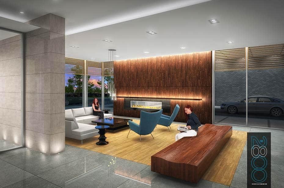 The 2800 Condos - Lobby - Interior Render