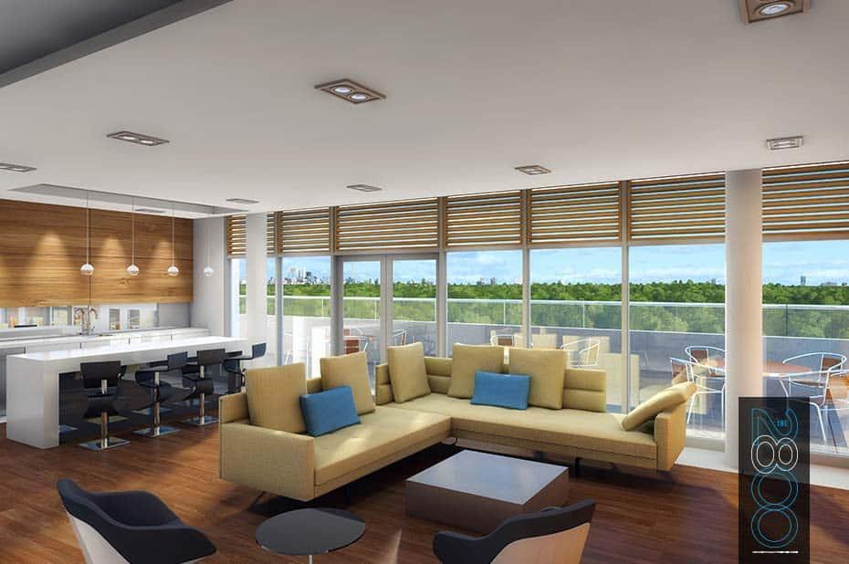 The 2800 Condos - Lounge - Interior Render