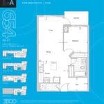 The 2800 Condos - Suite 1+A - Floorplan