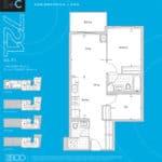 The 2800 Condos - Suite 1+C - Floorplan