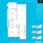 The 2800 Condos - Suite 2F - Floorplan