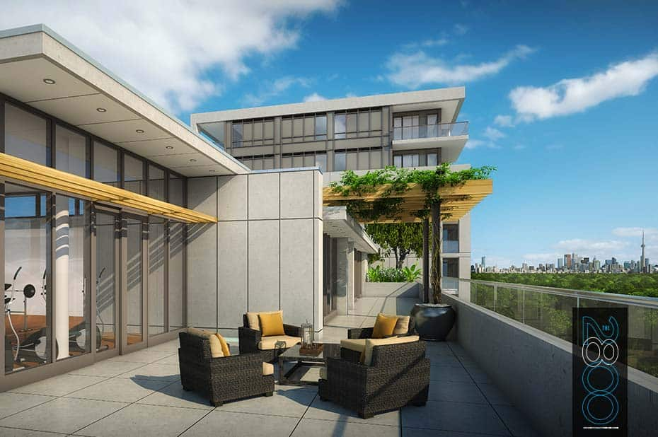 The 2800 Condos - Terrace - Exterior Render