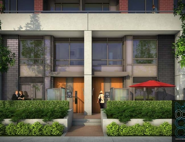 The 2800 Condos - Townhome - Street Level View - Exterior Render