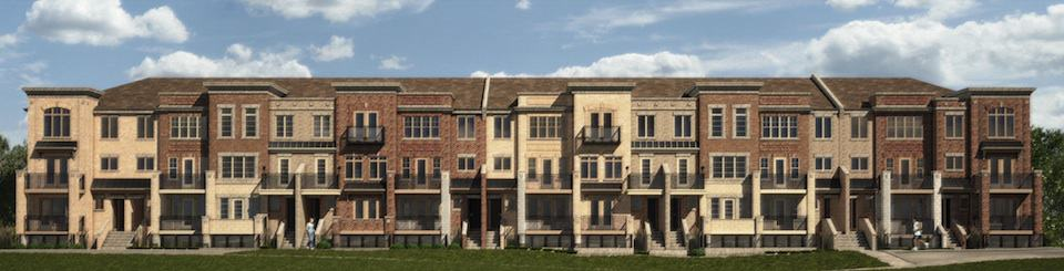 The Brownstones at Westown - Street Level View - Exterior Render 2
