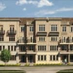 The Brownstones at Westown - Street Level View - Exterior Render 3