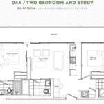 The Garden District Condos - 04A - Floor Plan