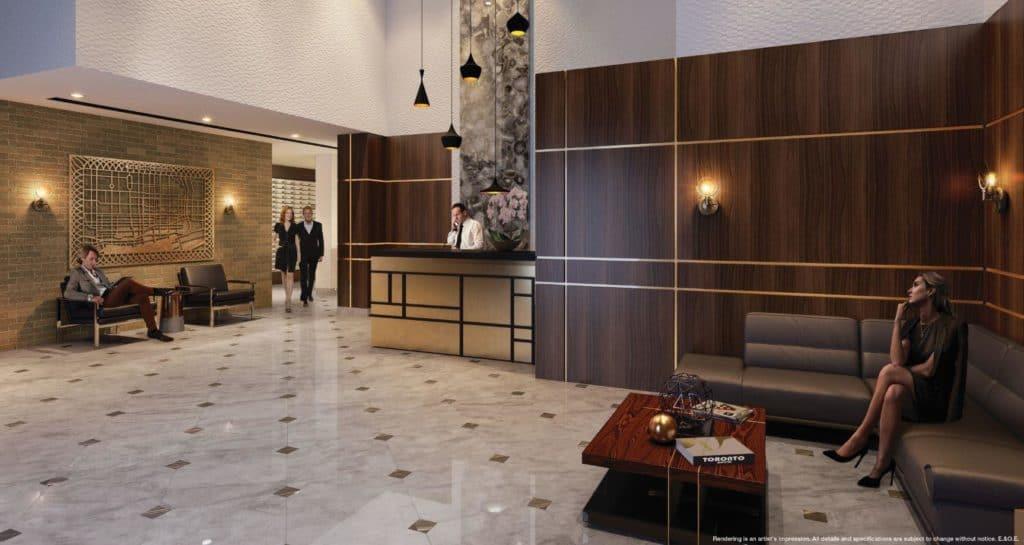 The Garden District Condos - Lobby - Interior Render