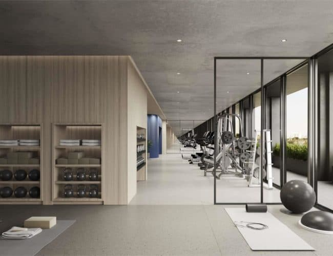 The Junction House - Gym - Interior Render