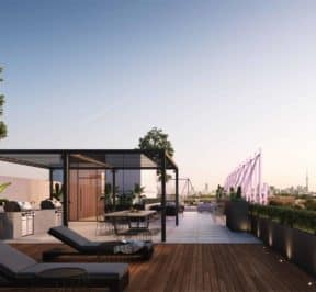 The Junction House - Rooftop Terrace - Exterior Render