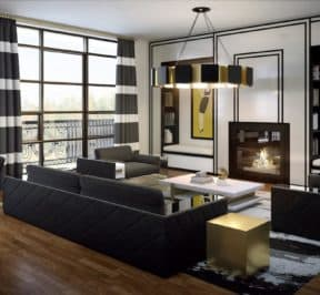 200 Russell Hill Condos - Suite - Modern Living Room - Interior Render