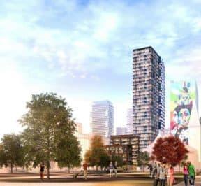 308 Jarvis Condos - Street Level View - Exterior Render 2