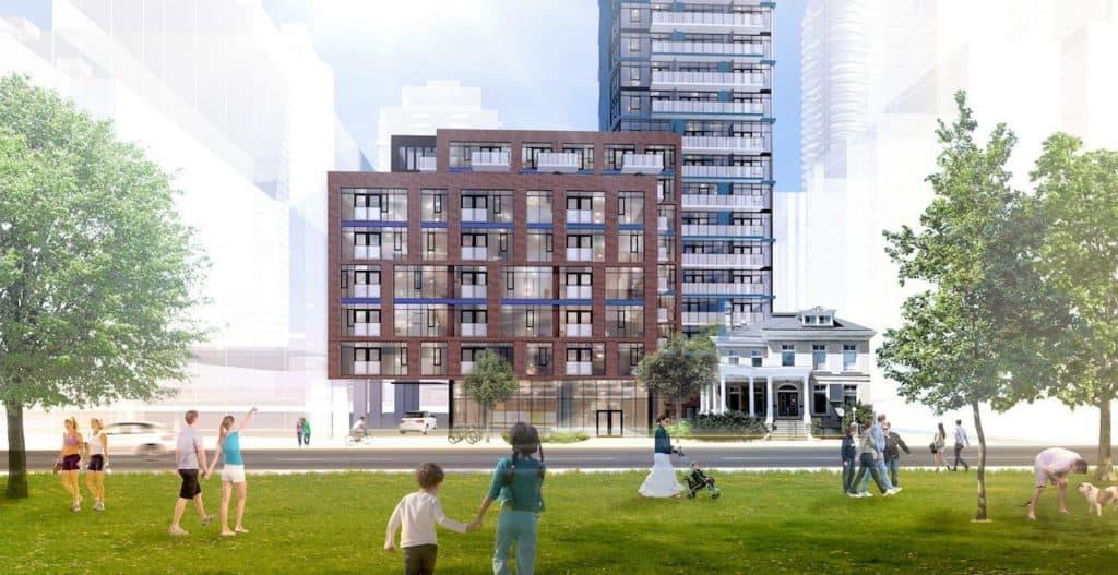 308 Jarvis Condos - Street Level View - Exterior Render 3