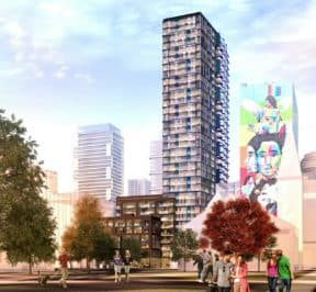 308 Jarvis Condos - Street Level View - Exterior Render 5