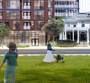 308 Jarvis Condos - Street Level View - Exterior Render 6