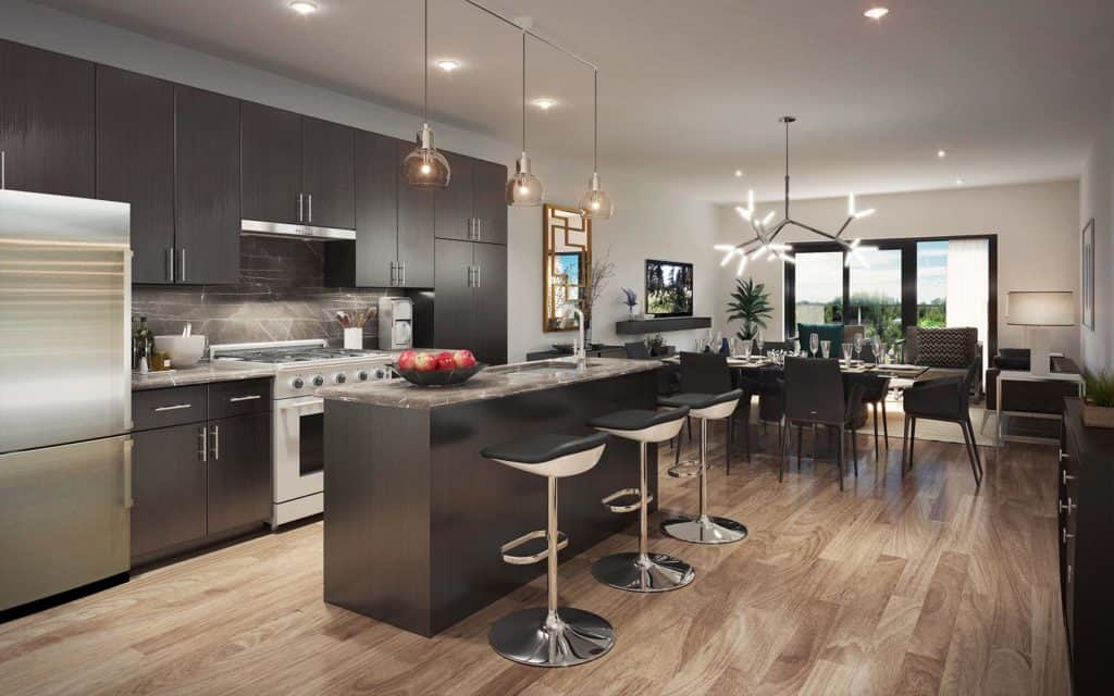 8 Haus Boutique Condos - Kitchen and Dining - Interior Render