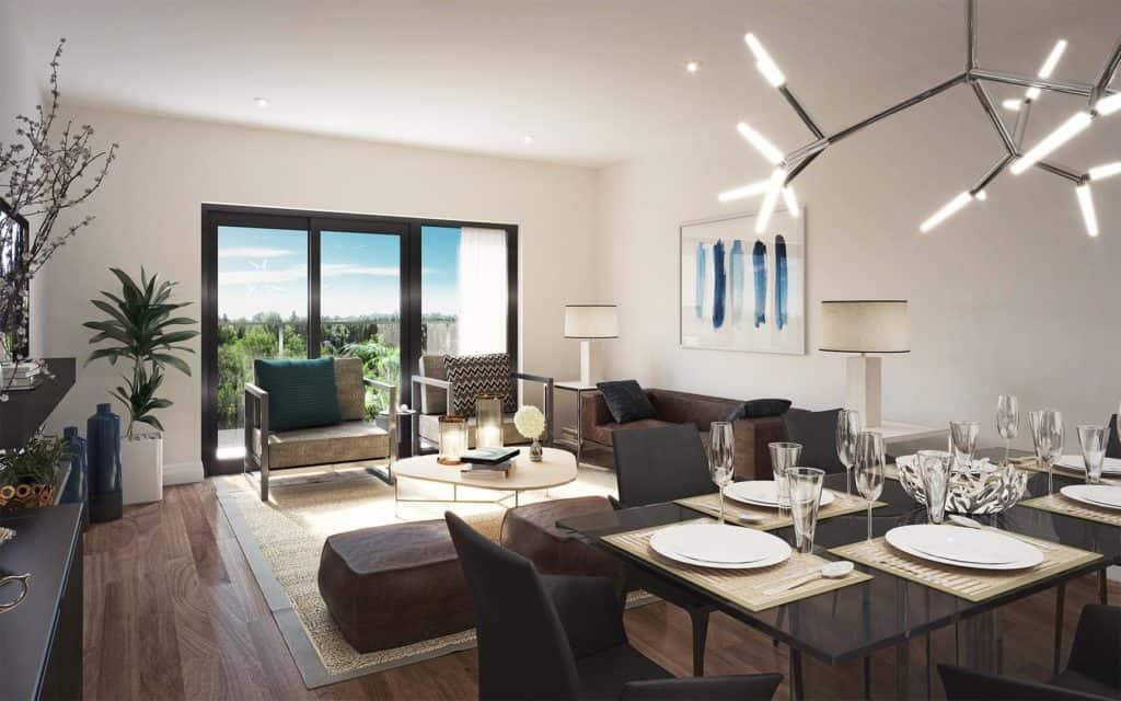 8 Haus Boutique Condos - Living Room - Interior Render